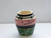Small Australian Pottery Vase Australian Pottery Canberra ACT with Kangaroos