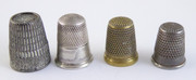 #8 Collection of  Vintage and Antique Thimbles  $40