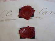 3 Page Antique June 1838 Leather Vellum Parchment with Wax Seals