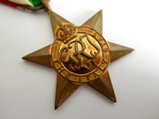 Original Issued Unnamed WW2 Commonwealth Military The Italy Star Medal with Ribbon