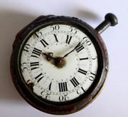 Antique 1700s Fusee Verge Tortoiseshell Pair Case Pocket Watch for Restoration