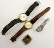 Collection of Vintage Quartz Wrist Watches for Parts