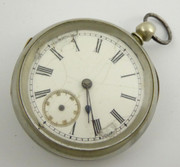 Antique White Metal  Pocket Fob Watch  Movement Works Parts Restoration