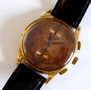 1930s Swiss Gents 18ct Gold Chronograph Wrist Watch