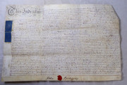 Antique 1779 Leather Vellum Parchment with Wax Seals John Spragging