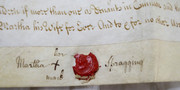Antique 1750 Leather Legal Vellum Spilsby Mablethorpe Lincolnshire