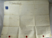 2 Page Antique 1840 Leather Legal Vellum Spilsby Lincolnshire Reverend Pattinson & Wray