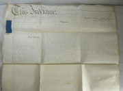 2 Page Antique 1849 Leather Legal Vellum Spilsby Lincolnshire Reverend Pattinson & Starmer Hogsthorpe