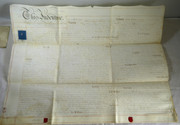 Page Antique 1849 Leather Legal Vellum Spilsby Lincolnshire Starmer & Reverend Pattinson  Hogsthorpe