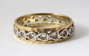 Vintage Gem Set Hallmarked 9ct Gold Ring