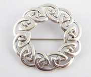 Vintage Hallmarked 925 Sterling Silver Celtic Designed Brooch