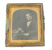 1800s Victorian Ambrotype Photograph of a Victorian Gentleman