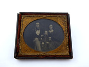 1800s Victorian Ambrotype Photograph of Victorian Family with Baby