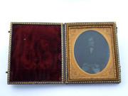 1800s Victorian Ambrotype Photograph of Victorian Gentleman