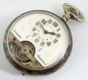 Antique Hebdomas Exposed  Mechanical Movement Pocket Watch