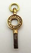 Antique Late 1800s Watch Key J P Dowell Carlisle Watch Maker & Jeweller