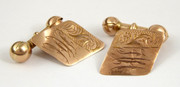 Vintage Pair of Art Deco 9ct Gold Cufflinks Monogrammed HH