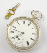 1919 Sterling Silver Swiss Pocket Watch London Silver Import Marks Running Fast