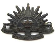 Antique WW2 Military AIF Australia Rising Sun Hat Badge K G Luke Melbourne