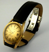 Vintage Gold Plated Nivada  Aquadatic Automatic Wrist Watch
