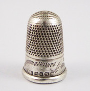 Antique 1892 Hallmarked Sterling Silver Sewing Thimble Dents