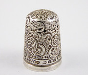 Antique 1887 Hallmarked Sterling Silver Sewing Thimble