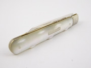 Antique 1919 Sterling Silver Hallmarked Pocket Fruit Knife with Pearl Handle by William Vale & Sons
