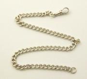 Antique Hallmarked Sterling Silver Pocket Watch Chain