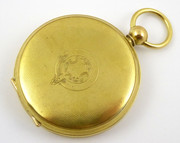 1800s Early 1900s Antique Brass  Pocket  Watch Case Only