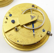 1800s Antique Mechanical Fusee Pocket Watch Movement  R B Kirby Malton