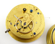 1800s Antique Mechanical Fusee Pocket Watch Movement Aaron Jackson Sunderland