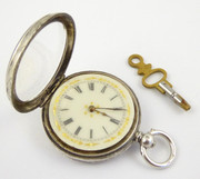 Late 1800s Antique .935 Swiss Hallmarked Silver Pocket Watch Needs Work