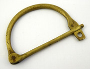 1800s  Antique Brass Lock Military Kit Bag Clamp ?