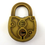 1800s  Antique Brass Lock Eagle Lock Co Terryville CT USA