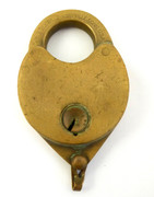 1800s  Brass Antique Lock Eagle Lock Co Terryville CT USA
