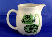 Mid Century  Arabia Finland Green Smiling Cat Milk Jug Pitcher by Kaj Franck