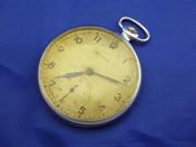 Vintage Slim Russian Art Deco  Mechanical Crown Wind Pocket Watch