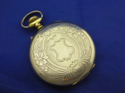 Antique Art Nouveau 1900s  Pocket Watch Fancy Engraved Back
