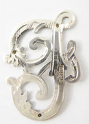 1900s - 1920s Antique Solid Silver Letters 'F' 29mm with Silversmith's stamp Other Letters Available