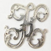 1900s - 1920s Antique Solid Silver Letters 'K' 27mm with Silversmith's stamp Other Letters Available