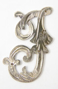1900s - 1920s Antique Solid Silver Letter 'I' 28mm with Silversmith's stamp Other Letters Available