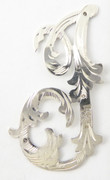 1900s - 1920s Antique Solid Silver Letters 'I' 39mm with Silversmith's stamp Other Letters Available