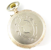 Antique 1900s German .800 Silver and Gold Pocket Watch