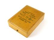1900s Wooden Timber Pocket Watch Presentation Box Ernest Goode London