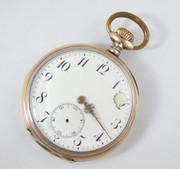 Antique 1900s German .800 Silver & Gold Pocket Watch