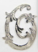1900s - 1920s Antique Solid Silver Letters 'O' 30mm with Silversmith's stamp Other Letters Available