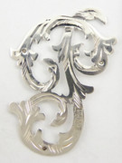 1900s - 1920s Antique Solid Silver Letters 'P' 32mm with Silversmith's stamp Other Letters Available