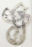 1900s - 1920s Antique Solid Silver Letters 'G' 32mm with Silversmith's stamp Other Letters Available