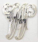 1900s - 1920s Antique Solid Silver Letters 'W' 30mm with Silversmith's stamp Other Letters Available