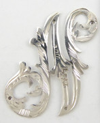 1900s - 1920s Antique Solid Silver Letters 'N' 30mm with Silversmith's stamp Other Letters Available